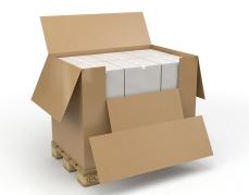 Caisse et palette - Caisse Container avec Abattant