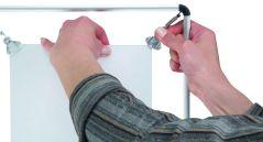 Coala posterhouder stretch met aluminium frame - detailfoto montage